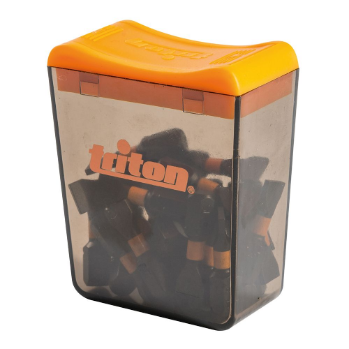 Triton Impact Screwdriver Bits  Slotted SL8 x 25mm Pack of 25